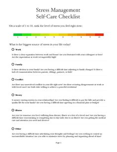Stress Management Worksheet - PDF | stress management | Pinterest ...