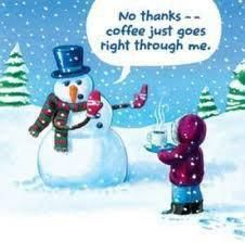 snowman coffee