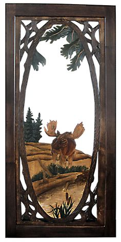 Hand Carved Rustic Doors, Hand painted Interior Doors, Unique Carved Exterior Doors