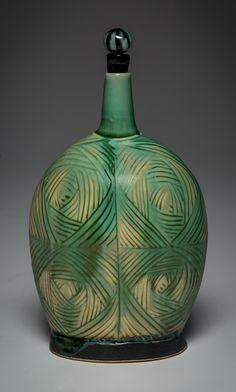 Carved Bottle | Silvie Granatelli Porcelain