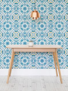 Add real oomph to your kitchen with this tile effect wallpaper design. Bursting with colour and full of gorgeous detailing, it's the perfect way to brighten up your home this summer.