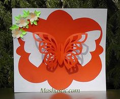 Pop up card with butterfly