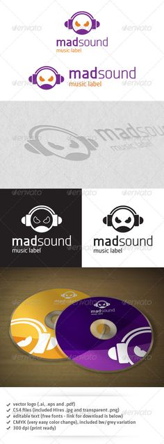 Mad Sound Logo — Transparent PNG #fun #mascot • Available here → https://graphicriver.net/item/mad-sound-logo/3730811?ref=pxcr