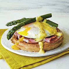 Eggs Benedict Waffle Sandwiches Recipe | MyRecipes.com