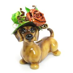 Dachshund Dog Lover The Witch Collection Christmas Gift Handmade   madamepomm - Seasonal on ArtFire