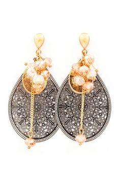 Andell Filigree Teardrop Earrings on Emma Stine Limited