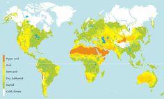 rain fall animated usa world maps | World map of aridity zones