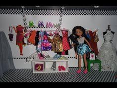 Como hacer una tienda de ropa para las muñecas Barbie, Monster high and Bratz - YouTube