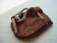 Leather Drawstring Pouch Bag Renaissance Garb Worn small size 2 x 3 inch #Unbranded Seller florasgarden on ebay
