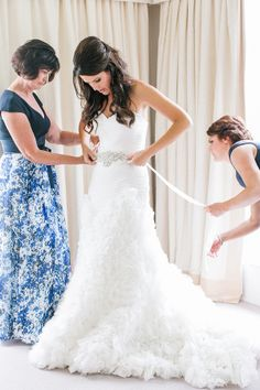 We love the ruffles on this wedding dress