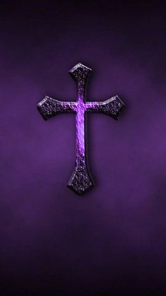 MuchaTseBle Iphone Wallpaper Bible, Cross Wallpaper, Jesus Wallpaper, Love Wallpaper, Wallpaper Backgrounds, Wallpaper Keren, Iphone Wallpapers, Purple Cross, Purple Love