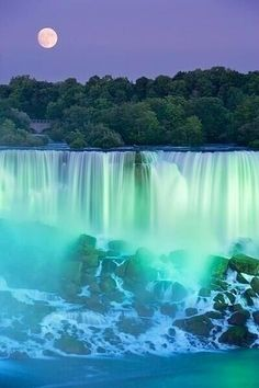Dusk at Niagra Falls, New York.  Go to www.YourTravelVideos.com or just click on photo for home videos and much more on sites like this.