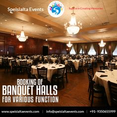 """Booking Of Banquet Halls For Various Function In Just One Click"" #speisialtaevents #events #decor #decoration #weddingplanner #evenorganizer Visit Our Website: www.speisialtaevents.com For Booking Call:+91-9350655999, +91-9350455999"