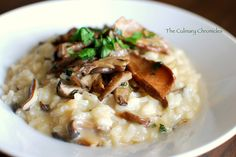 Mushroom Risotto posted on theculinarychronicles.com adapted from recipe by Tyler Florence