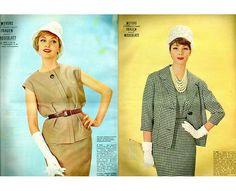 Vintage Schnittmuster - Meyers Modeblatt - Schnittmusterheft von 1961 - ein Designerstück von Kostuemkram bei DaWanda
