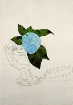 Andy Warhol, FLOWER DRAWING, 1974.  Watercolor and graphite on paper.