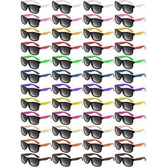 743914d6c0 Norme 48 Piezas Gafas de Sol de Color neón Gafas de Sol de Fiesta de los