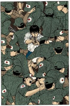 Akira film by artist/screenwriter/director Katsuhiro Otomo Manga Anime, Manga Art, Anime Art, Nail Bat, Akira Kaneda, Akira Anime, Character Art, Character Design, Katsuhiro Otomo