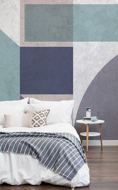 A grey wallpaper mural is key to creating a modern space. Layering lighter and darker shades will create stylish complexity, forming a sophisticated room. These wallpaper murals work perfectly if you want to create a modern contemporary bedroom space, that is classy as well. A lighter mural will create calm and peaceful surroundings and therefore would work great in the bedroom. #greywallpaper #greywalls #greydesign #interiorspace #homeanddesign