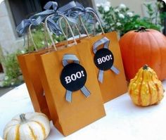"""BOO bags!""""You've Been Boo'd!"""" Kit. Boo your neighbors with our fun """"You've Been Boo'd!"""" Halloween kit! Includes 11"""" cardboard signs, 12"""" ribbons and instruction cards. Makes 6.Instructions read: You have been BOO'D! Please keep it going by following these frightfully simple directions:1. Enjoy your treat2. Place the BOO design on your front door or a visible window.3. Within 2 days, make 2 copies of this note, 2 copies of the BOO sign and 2 treats.4. Secretly deliver to 2 friends or neighbors without a BOO.5. Keep an eye on nearby front doors and windows and see how far and fast it spreads by Halloween!"""