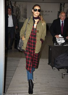 Jetsetter: Heidi Klum, 43, jetted into London on Monday from Los Angeles...