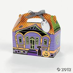 Haunted House Paper Treat Box Craft Kit