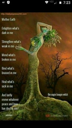 Goddess of the Earth - a personification of all that is living, vibrant, and alive as the Tree of Life. This prayer is about renewal - which is what the earth gives us season after season. Thank you for this eternal gift. Magick Spells, Healing Spells, Healing Prayer, Wicca Witchcraft, Witch Spell, Book Of Shadows, Mother Earth, Oeuvre D'art, Nature