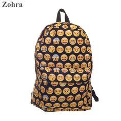 Zohra Emoji Black 3D Printing Ladies Feminina Man Shoulder Women Bag Children School Bags Girl Mochila Escolar Infantil Backpack♦️ SMS - F A S H I O N  http://www.sms.hr/products/zohra-emoji-black-3d-printing-ladies-feminina-man-shoulder-women-bag-children-school-bags-girl-mochila-escolar-infantil-backpack/ US $23.54