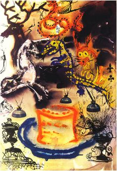 "salvadore dali's alice in wonderland book | In 1969, Salvador Dali Illustrated ""Alice in Wonderland""...and It's as ..."