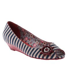 Take a look at this Marine Anchors Aweigh Open-Toe Shoe by Poetic Licence on #zulily today!