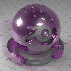 Vidrio color violeta.