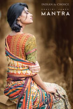This is a lovely potpourri of beautiful Indian textiles and designs- an inspiration sourced from a mix of different folk art, bright colours and patchwork. Blouse Back Neck Designs, Blouse Designs, Indian Fabric, Indian Textiles, Indian Attire, Indian Ethnic Wear, Indian Style, Ethnic Fashion, Asian Fashion