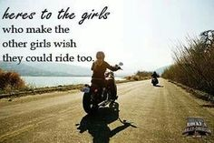 And some girls just pretend they ride.  Check www.iridegear.com for India's best #motorcycle #tees, #riding #shirts, #riding #gear & #tours