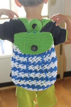 CROCHET toddler backpack pattern free - Google Search