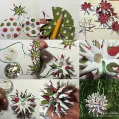 Step by step DIY polish star Christmas ornaments  #stampinup #christmas #DIY