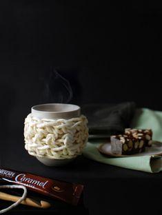 DIY: chunky cuddle mug cosy #Crochet