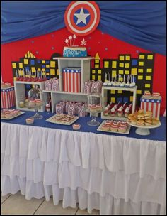party capitan america Birthday Party Ideas | Photo 4 of 7