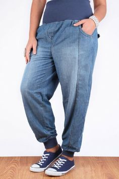 e966e0b2817 Fashion Bug Womens Plus Size Mid Lightweight Slouch Jogger Cuffed Jeans www. fashionbug.us