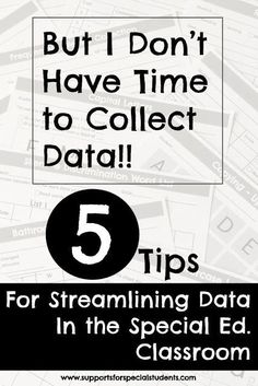 But I Don't Have Time to Collect Data! – Tips for Streamlining Data Collection in the Special Education Classroom But I Don't Have Time to Collect Data! – Tips for Streamlining Data Collection in the Special Education Classroom Autism Classroom, Special Education Classroom, Classroom Ideas, Classroom Organization, Google Classroom, Special Education Organization, Teacher Education, Classroom Resources, Future Classroom