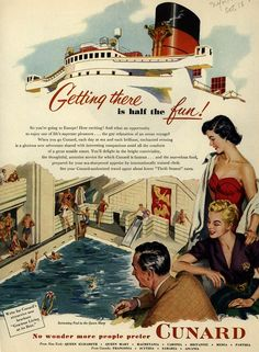 Getting there is half the fun .. Cunard Cruise Lines