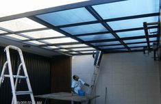 Polycarbonate Roof With Steel Frame Cool Patio Cover