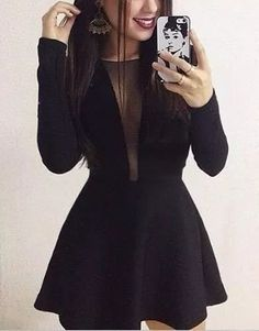 Shop sexy club dresses, jeans, shoes, bodysuits, skirts and more. Black Dress Outfits, Boujee Outfits, Girls Fashion Clothes, Fashion Dresses, Cute Dresses, Short Dresses, Prom Dresses With Pockets, Ideias Fashion, Dress Clothes