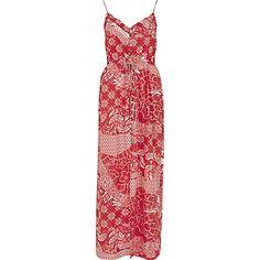 Red printed maxi dress $76.00