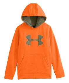 fee36a7cc9e52 Under Armour® Blaze Orange Armour® Fleece Camo Big Logo Hoodie - Boys