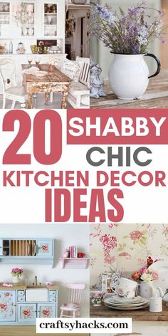 Rustic chic decor is absolutely gorgeous and it suits kitchen perfectly. Try these kitchen chic decor ideas and transform your kitchen design. Shabby Chic Kitchen Decor, Rustic Chic Decor, Shabby Chic Farmhouse, Diy Kitchen Decor, Shabby Chic Homes, Diy Home Decor, Kitchen Rustic, Design Kitchen, Farmhouse Decor