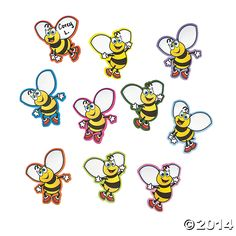 Bee+Magnet+Cutouts+-+OrientalTrading.com