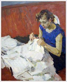 Кирчанов Александр Николаевич (Россия, 1919-1987) «Швея» 1960