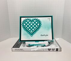I love the Blending Brushes to add a bit extra to the background of this thank you card. Handmade Stamps, Paper Crafts, Diy Crafts, Cool Cards, Thank You Cards, Stampin Up, Card Stock, Crafty, Brushes