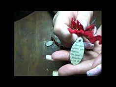 Sleigh Bells Santa Necklace by leslierahye