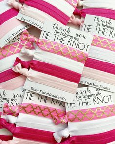 Thank You for helping me tie the knot Hair Ties by FuzzHeadCrafts  Bridesmaid Thank You e664c1df01c